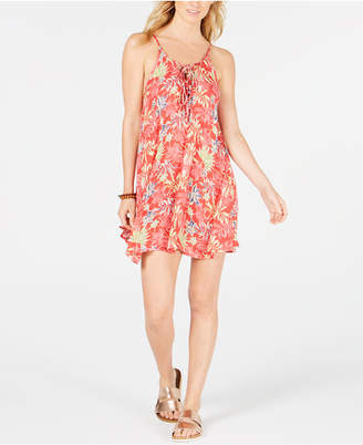 Roxy Juniors' Softly Love Printed Cover-Up Dress Women's Swimsuit