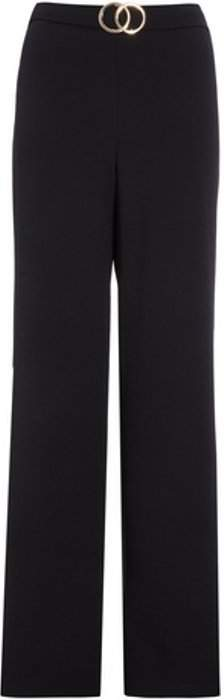 Womens *Quiz Black Crepe Buckle Trousers