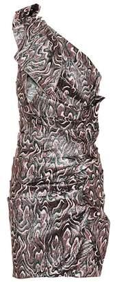 Isabel Marant Synee metallic jacquard minidress