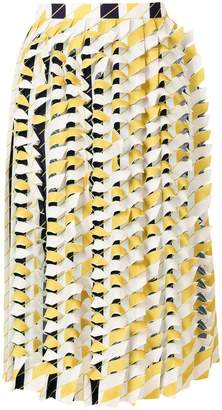 Maison Margiela textured pleated skirt