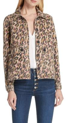 Veronica Beard Mercer Leopard Print Jacket