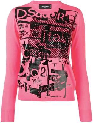 DSQUARED2 logo print sweater