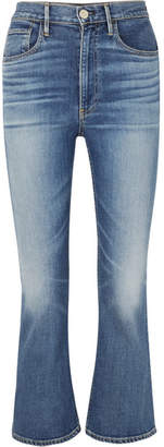 3x1 W5 Empire Cropped High-rise Flared Jeans - Mid denim