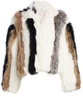 Cinq à Sept Jayden Striped Fur Jacket
