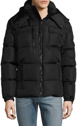 SAM. Men's Hooded Quilted Puffer Jacket