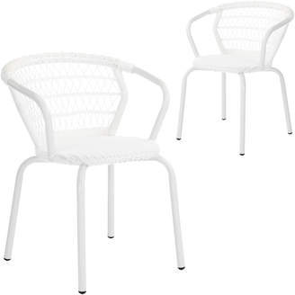Webster Temple & Set of 2 Raffles PE Rattan Outdoor Dining Chairs