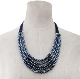 clear MONET JEWELRY Monet Jewelry Womens Beaded Necklace