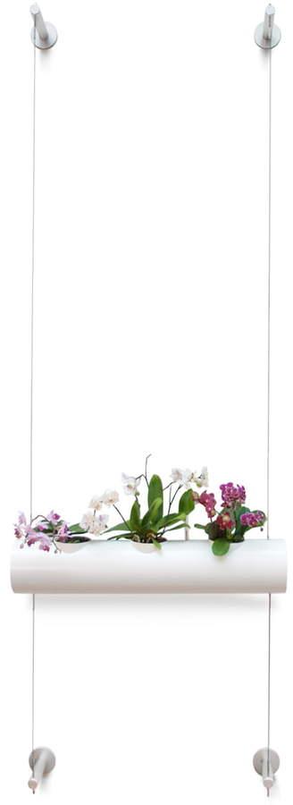 urbanature - Hängegarten mit 1 Pflanzröhre, Weiß