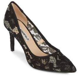 Karl Lagerfeld Royale Floral Point Toe Pumps