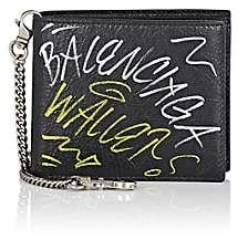 Balenciaga Men's Explorer Arena Leather Chain Wallet