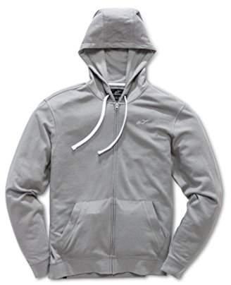 Alpinestars Men's Full Zip Hooded Sweatshirt Modern Fit 200 GSM Logo Fleece