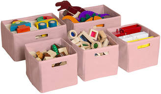 Guidecraft Set Of 5 Storage Bins