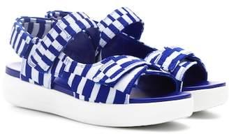 Tory Sport Motley-Check platform sandals