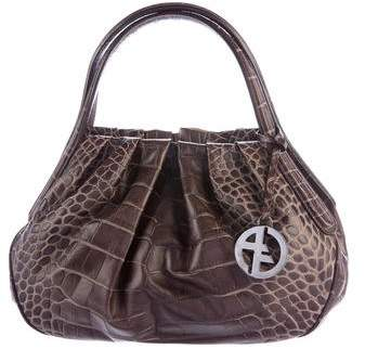 Giorgio Armani Embossed Leather Handle Bag