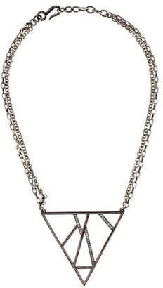 Paige Novick Crystal Triangle Pendant Necklace