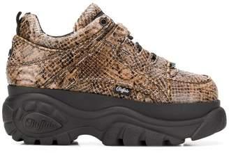 Buffalo David Bitton x Junya Watanabe python platform sneakers