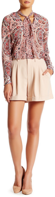 Alice + Olivia alice + olivia Amani Pleated Short