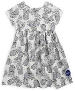 Smiling Button Toddler's, Little Girl's& Girl's Seersucker Pineapple Sunday Cotton Dress