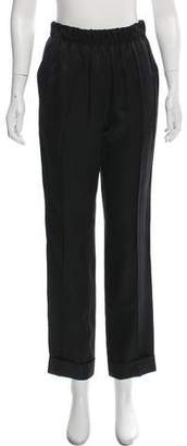 Helmut Lang Pull On Suit Silk-Blend Straight-Leg Pants w/ Tags