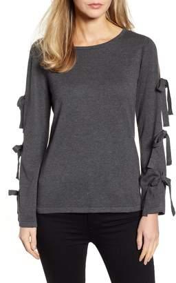 CeCe Bow Sleeve Sweater