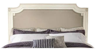 Beachcrest Home Waverley Carved Upholstered Panel Headboard