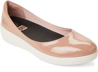 FitFlop Nude Superballerina Patent Flats