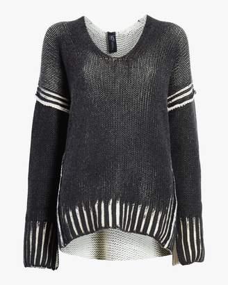 Zero Maria Cornejo Slash V-Neck Pullover Sweater