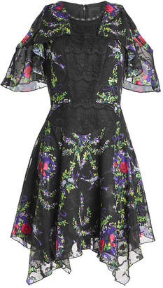 Anna Sui Printed Dress with Lace