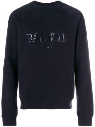 Balmain logo print jersey sweater