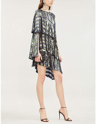 Osman Tina sequin-embellished crepe mini dress