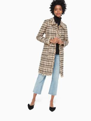 Kate Spade bi-color tweed coat
