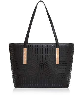 Ted Baker Breeana Cut Out Bow Leather Shopper Tote