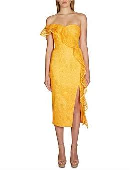 Rebecca Vallance Baha Strapless Midi Dress