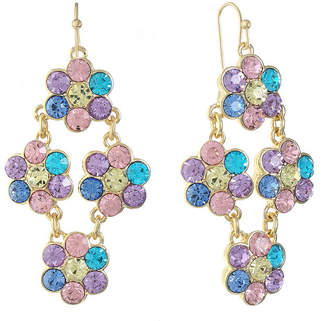 MONET JEWELRY Monet Jewelry Multi Color Chandelier Earrings