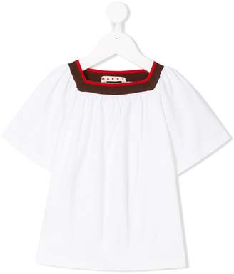 Marni contrast trim tunic top