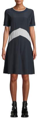 Rag & Bone Hannah Chevron Silk Tee Dress