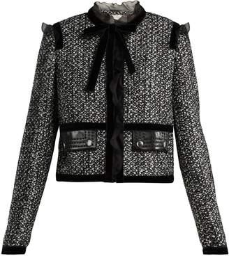 Giambattista Valli Ruffle-trimmed tweed jacket