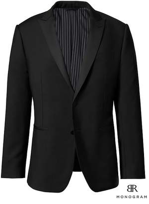 Banana Republic Monogram Slim Italian Wool-Mohair Tuxedo Jacket