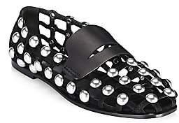 Alexander Wang Women's Sam Studded Suede Shoe