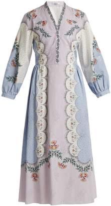 Vilshenko Estella floral-print dress