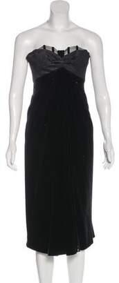 Nina Ricci Strapless Midi Dress