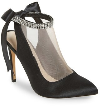 Women's Nina 'Rosana' Crystal-Embellished Tie-Back Pump $128.95 thestylecure.com