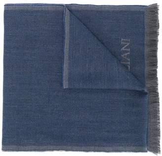 Corneliani knitted logo scarf
