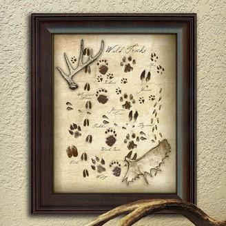 Personal Prints ''Animal Tracks'' Framed Wall Art