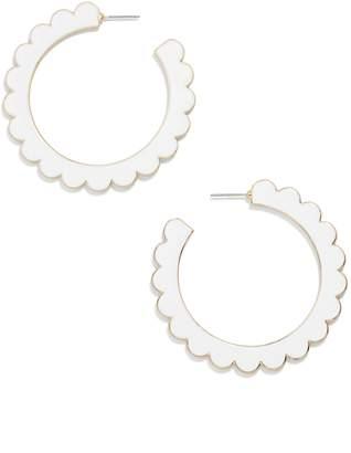 BaubleBar Scallop Hoop Earrings
