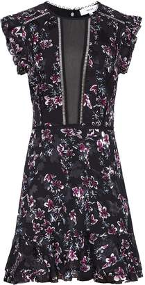 Reiss Alexandra - Floral Printed Dress in Black Floral