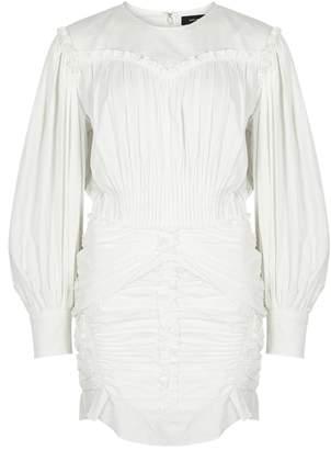 Isabel Marant Unice Off-white Ruffle Dress