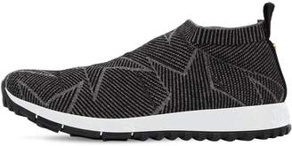 7ca8fdb3f08 Jimmy Choo 30mm Norway Glittered Sock Sneakers