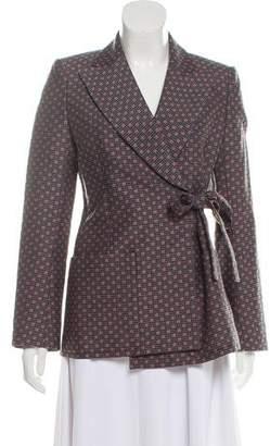 Louis Vuitton Wool-Blend Patterned Blazer