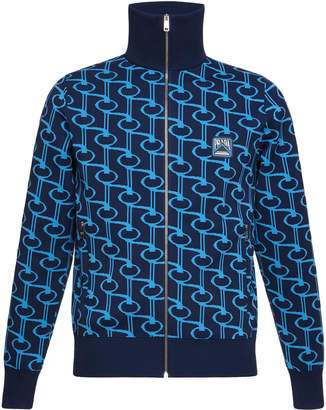 Prada Jacquard Zip-Up Jacket